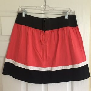 Coral/Black/white skirt